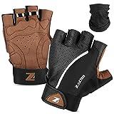 Zacro Cycling Gloves, Half Finger Biking Glove MTB DH Road Bicycle Gloves, Winter Light Anti-Slip Shock-Absorbing Unisex Biking Gloves for Men/Women XL