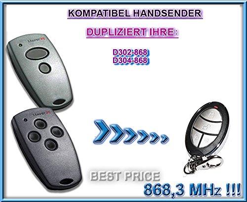 Marantec D302, Marantec D304–868,3MHz compatible emisor manual, Repuestos, klone. Top Calidad Clone Remote Control.