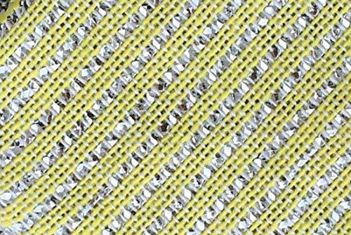 steda Seilspannmarkise, Lamellentuch, Sonnensegel, Sonnenschutz für Wintergarten, Terrassendach, Überdachung (gelb/Silber)