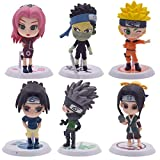 Cake Topper - YUESEN 6pcs Naruto Mini Juego de Figuras Niños Mini Juguetes Baby Shower Fiesta de cumpleaños Pastel Decoración Suministros
