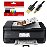 Canon All-in-One Printer for Home Office Copier Scanner Fax Auto Document Feeder Photo and Document Printing Airprint (R) and Android Printing + Bonus Set of Ink and Printer Cable
