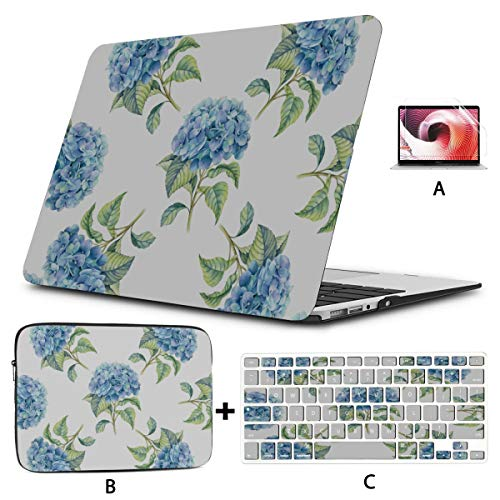Macbook Cases Blue Rose Elegant Beauty Flowers New Macbook Air Case Hard Shell Mac Air 11'/13' Pro 13'/15'/16' With Notebook Sleeve Bag For Macbook 2008-2020 Version