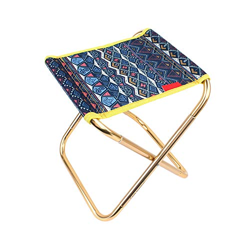 Portable Mini Camping Stool Chair, Lightweight Outdoor Folding Fishing Chair/Aluminium Alloy Slacker Beach Seat for Grill BBQ Barbecue Travel Hiking Garden Home with Storage Bag