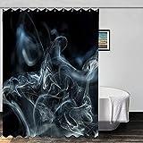 Abstrakte Duschvorhang Rauch Natürlicher Raucheffekt Moderne dekorative Duschvorhang Set Wasserdicht Badezimmer Duschvorhang mit