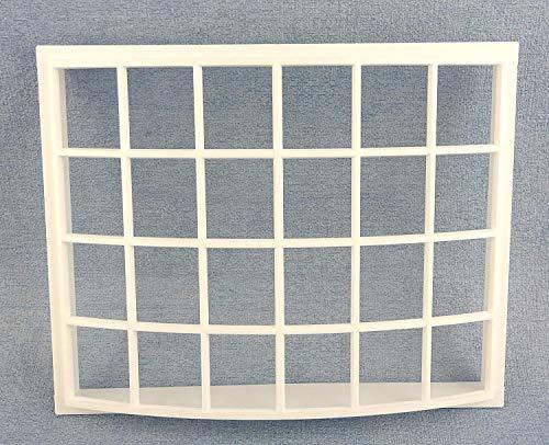 Melody Jane Puppenhaus Kunststoff Weiß Georgischer Bay Bogen Fenster 24 Scheibe 1:12 DIY Builders