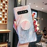 phone case CGL Caso Celular Casos y Cubiertas del teléfono de mármol de Gaza TPU Protección de Nuevo Caso for la Galaxia S10e, con Soporte (Gris) (Color : Baby Blue)