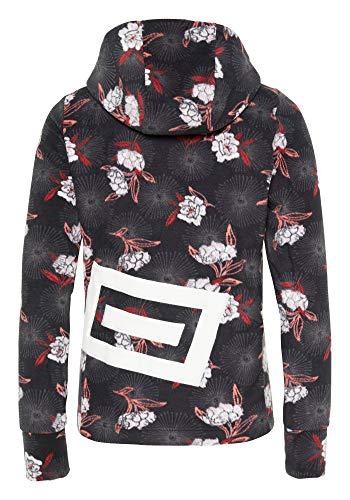 Chiemsee Damen PlusMinus-Design Fleecejacke, Black/Red AOP, S