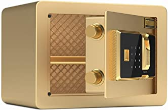 HTTBXG Safes Anti-Theft Password Deposit Box, Secure Metal Safe for Storing Goods, Valuables, Passports, Keys, Money, Jewe...