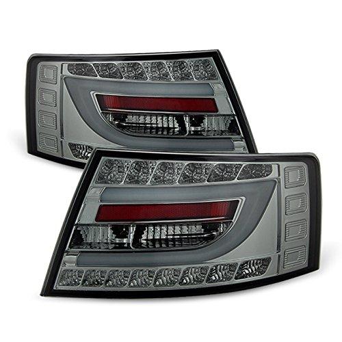 For 05-08 Audi A6 A6 Quattro Smoke Light Tube Design LED Tail Lights FOR OE LED TAIL LIGHT MODEL