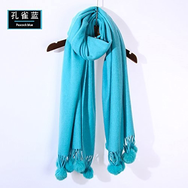 DIDIDD Scarfladies winter wool scarf continental thickening warm shawl