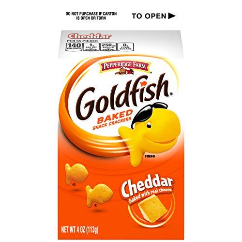 Pepperidge Farm Goldfish Cheddar Crackers, 4 Ounce Carton, 12 Count