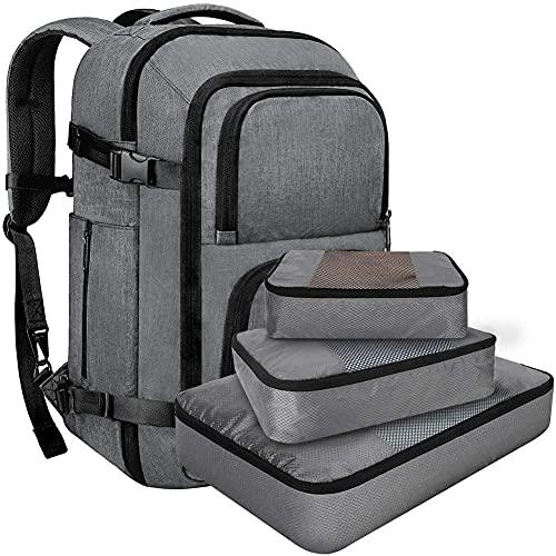 Zaino uomo e donna zaino da trekking zaini per laptop, zaino rolltop in tela, zaino impermeabile vintage grande cerato per outdoor-C_L