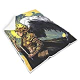 Ainiteey Valkyrie with Wing Breathable Colorless Throw Blanket for Bedroom Feel Good for...
