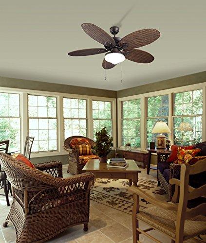 Diseño Ventilador de techo PHUKET Incluye lámpara 132cm