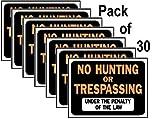 Hy-Ko 3011 9' X 12' Plastic No Hunting Or Trespassing Sign