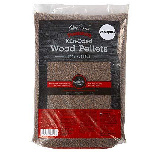 Camerons Pellets zum Grillen (mequite) – Räucherpellets aus Holz für Smoker Box und BBQ Grills – 100% natürlicher, ofengetrockneter Brennstoff, keine Füllstoffe, 9 kg Sack
