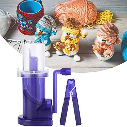 Ysimee Mini Knitting Mill, Mini Knitting Machine, Hand Operated Embellish Knit, Spool Knitter Woolen Yarn Necklace Jewelry Plastic Rope Weave Tool, Purple
