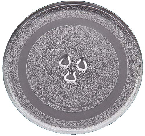 Irkaja 9.6 inches/245mm Diameter Microwave Oven Replacement Turntable/Rotating/Baking Glass Tray/Plate with Coupler...