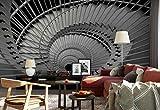Papel Tapiz Fotomural - Escalera De Caracol Sin Fondo Abstracto - Tema Arquitectura - XL - 368cm x 254cm (an. x alto) - 4 Tiras - impreso en papel 130g/m2 EasyInstall - 1X-1134522V8