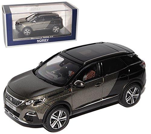 Norev Peugeot 3008 GT Grau Schwarz mit Schwarzem Dach 2. Generation Ab 2016 1/43 Modell Auto mit individiuellem Wunschkennzeichen