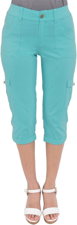 PattyCandy Womens Slack Fit Weekend Look Cargo Capri Pants, XS5XL