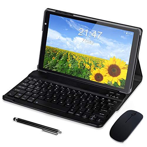 Tablet 10.1 Pollici Android 10.0,Quad-Core,4GB + 64GB,1280 * 800 FullHD IPS, 5MP+8MP Doppia Fotocamera,GPS, WiFi, Bluetooth (Negro)