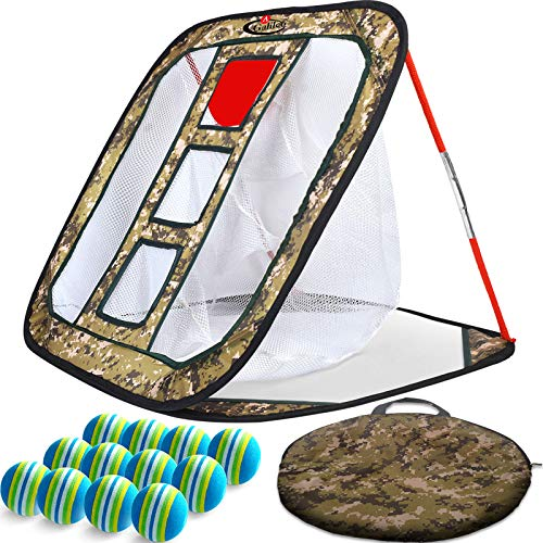 "GALILEO Golf Chipping Nets Golf Net Training Aids 24""(L) x28(W) Mix with Foam Training Balls(12pack)"