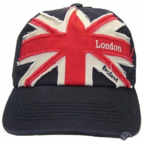 Mens Union Jack London England Embroidered Baseball Cap...