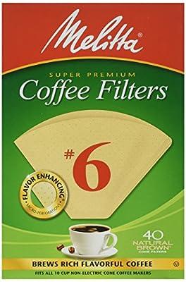 Melitta Cone Coffee Filters #6
