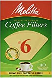 Melitta Cone Coffee Filters Number 6 40 Count (Pack of 2)