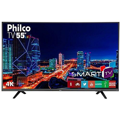 Smart TV LED 55' UltraHD 4K PTV55U21DSWNT, 3 HDMI, 2 USB, MIDIACAST e Netflix UNICA