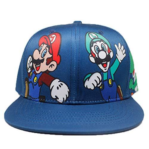 Enjoyfeel Baseballmütze, Super Mario Hysteresenhut, modische weiche Baumwolle, Größe verstellbar (2)