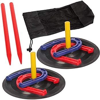 Toysharing Plastic Horseshoes Game Safety Rubber Horseshoe Set