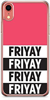Loud Universe Phone Case Fits iPhone XR Transparent Edge Friyay Phone Case Weekend iPhone XR Cover
