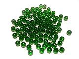 Vert foncé glasmurmeln Boules en Verre 16mm de diamètre 500g boules décoratives Transparent Murmel Décoration boule en verre de billes en verre Vert de Crystal King