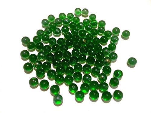 CRYSTAL KING Donkergroene glazen bolletjes 16 mm diameter 500 g decoratieve ballen doorzichtig Murmel decoratieve bol groene glazen bolletjes van CRYSTAL KING
