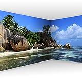 murando Fotomurales Tropical Mar Playa 550x250 cm XXL Papel de esquina Papel pintado tejido no tejido Decoración de Pared decorativos Murales moderna de Diseno Paisaje Panorama c-A-0058-a-c