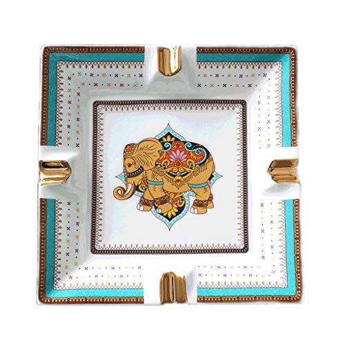 Cerámica Large Escritorio Cenicero Cigarro Hueso Cigarro China Cenicero para Fumadores Ceniceros Decorativos para Oficina en casa (Color: Estilo B) Mei (Color : Style G)