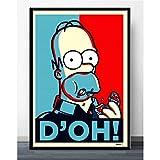 ysldtty Poster e Stampe Wall Art The Simpsons Scream Anime Cartoon Fumetti Simpson Picture Canvas Painting Home Decor E347 Senza Cornice 40cmx60cm