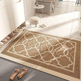 """Indoor Doormat Non Slip Absorbent Resist Dirt Entrance Rug 19.7"""" x 31.5"""" Machine Washable Floor Door Mat for Farmhouse / P..."""