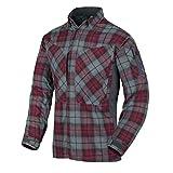 Helikon-Tex MBDU Chemise en Flanelle, Homme, MBDU Flannel Shirt Ruby Plaid, U.S. Large