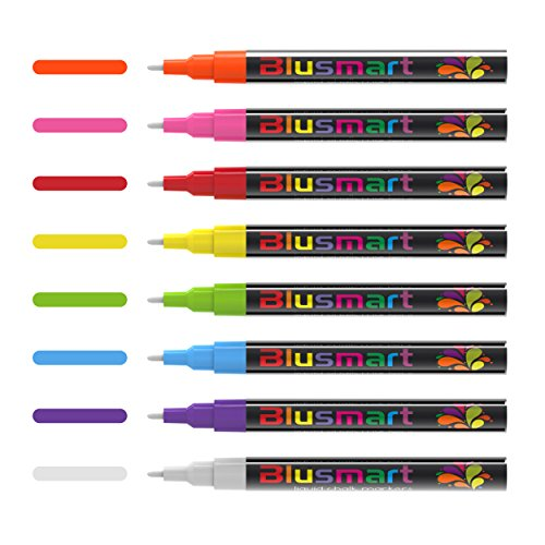 Chalk markers, Blusmart 8pcs Liquid Chalk Pens 3mm Reversible tips 40 Chalkboard Labels Perfect for Chalkboards, Windows, Glass,Whiteboard Photo #2