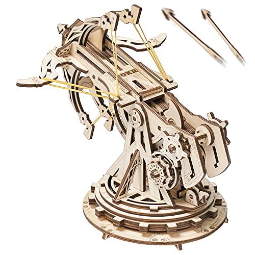 ROBOTIME 3D Puzzle Holz Erwachsene Bogenschießen Modellbau Holzpuzzle Modellbausatz Bastelset knobelspiele für Frauen und Mann