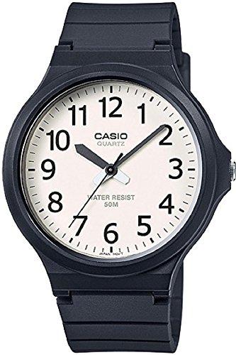 Casio Reloj Analógico para Hombre de Cuarzo con Correa en Resina MW-240-7B