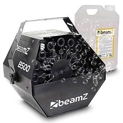 beamz B500 Bubble Machine and 5 Litre Bottle of Fluid Party Pack Ideal for Garden Games Outdoor Activities Summer Kids Fun Parties
