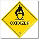 "Vsafety 6d022at-s""Oxidiser"" ADVERTENCIA peligro señal"