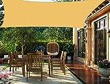 HENG FENG Toldo Vela de Sombra PES Rectangular 2 x 4 m Protección Rayos UV Impermeable Resistente a la Intemperie para Patio Exteriores Jardín Color Arena