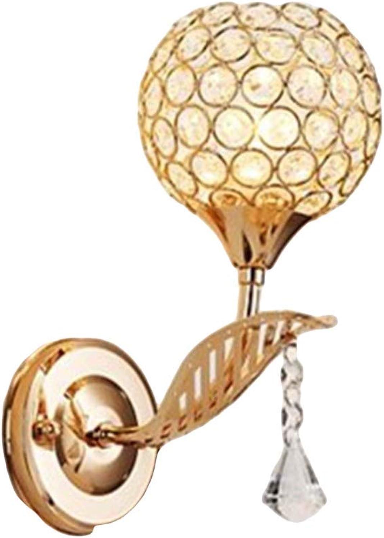 Oevina Mode Moderne Innenmetallwandleuchte, LED Kristallglas schn dekorative Wandleuchte Schlafzimmer Korridor Garage Nachtwandleuchte E27 (Farbe   B, gre   26x13cm)