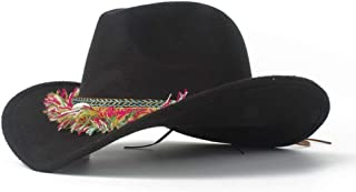 SHENTIANWEI 2019 Unisex Men Women Authentic Western Cowboy Hat with Tassel Ribbon Church Hat Wide Brim Hat Size 56-58CM
