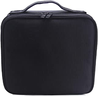 Travel Makeup Train Case Makeup Cosmetic Case Organizer Portable Artist Storage Bag 10.3'' with Adjustable Dividers for Co...